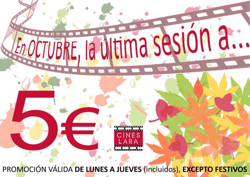 En octubre, de lunes a jueves, la última sesión por 5€